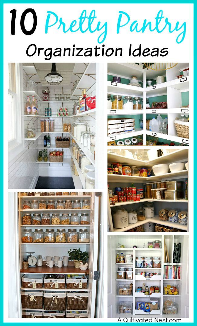 10 pantry organization ideas - is your pantry messy and disorganized? Here are some great tips on how to organize your pantry. Lots of inspiration!!   home organization, organizing tips, organize your life