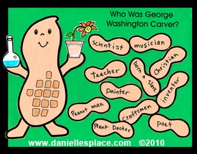 Nuts About George Washington Carver!   Black History Month Bulletin Board
