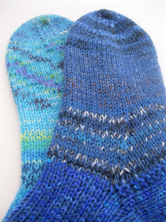 Hand Knitted Socks Handmade extra thick socks by SpacefrogSocks