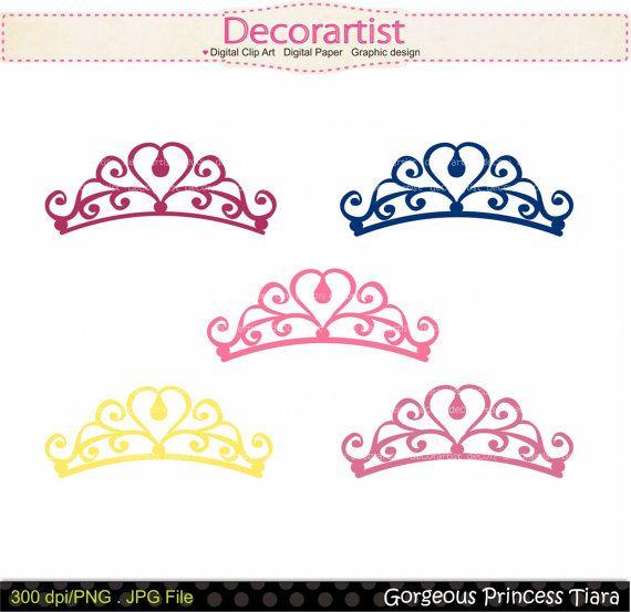 Princess clip art., princess Tiara , blue, pink , purple , INSTANT DOWNLOAD
