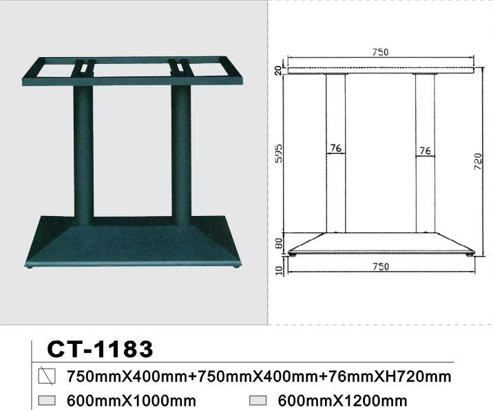 MILTON 75x40 Cast Iron Double Table Base , Commercial & Cafe, NZ's Largest Furniture Range with Guaranteed Lowest Prices: Bedroom Furniture, Sofa, Couch, Lounge suite, Dining Table and Chairs, Office, Commercial & Hospitality Furniturte