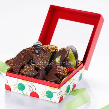 Zimné ovocie v čokoláde