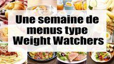 une semaine de menus type Weight Watchers, pour vous donner des idées pour des repas complets, légers et équilibrés et aussi facile et simple à cuisiner.