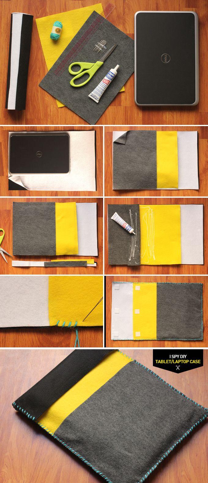 Einfache Anleitung für eine Tablet- oder Laptophülle!  DIY: laptop/tablet case