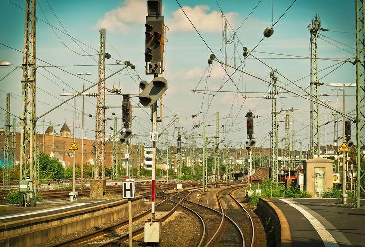 #bundesbahn #central station #gleise #hbf #platform #rail traffic #railway #railway station #seemed #shunting signal #signal #soft #station #technology #tracks #train #travel #upper lines