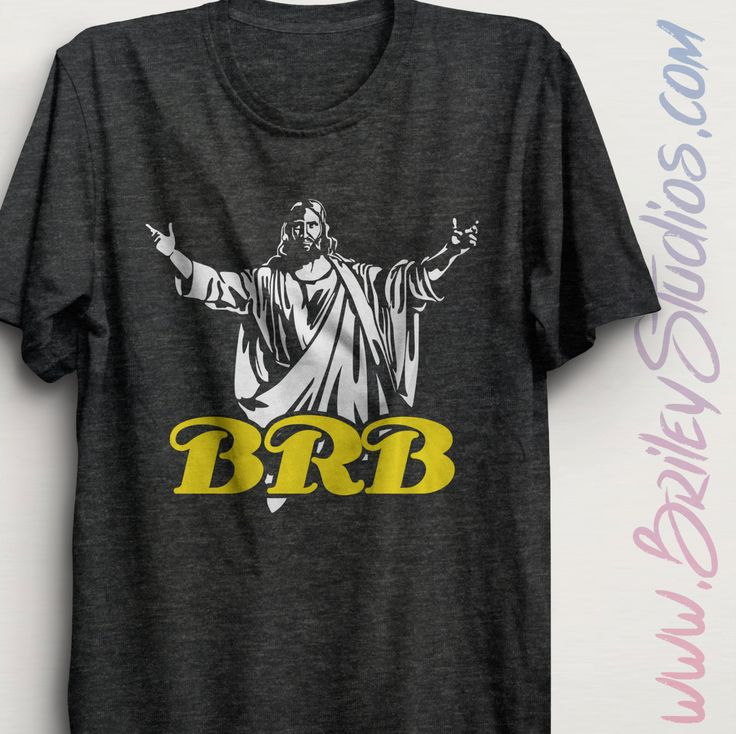Jesus BRB Tri-Blend Adult Tee | Jesus Be Right Back T-Shirt | Christian Graphic Shirts | Church Apparel | Triblend Clothing | Made To Order by BrileyStudios on Etsy