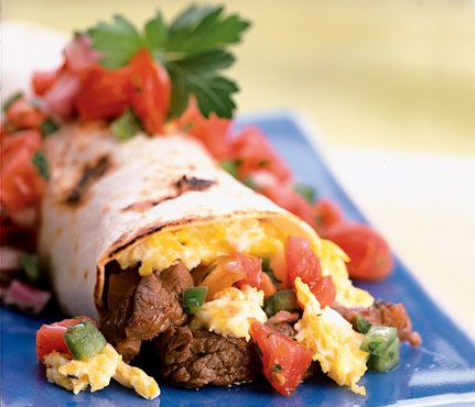 Low-Cal Breakfast: Tucson Breakfast Burro. #Under350Cals #SelfMagazine