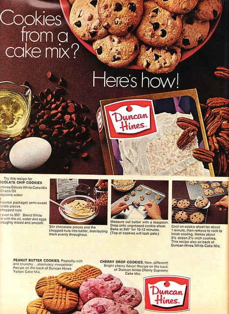 Cookies From A Cake Mix? Hereu0027s How! Better Homes U0026 Gardens November 1968