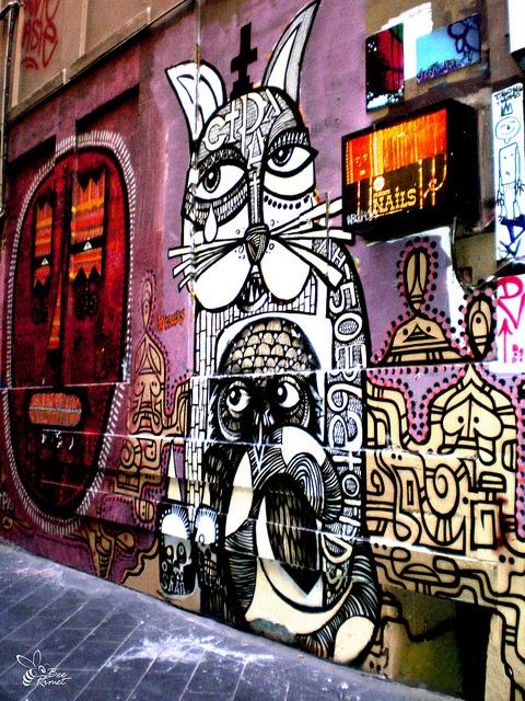 Grafiti, near Flinders Lane, Melbourne, Australia
