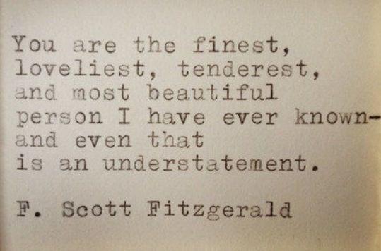 Love Letter To F Scott Fitzgerald