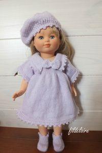 Nouvelle robe pour la poupée Marie-Françoise de Petit Collin dite aussi Modes et travaux – fildeloire