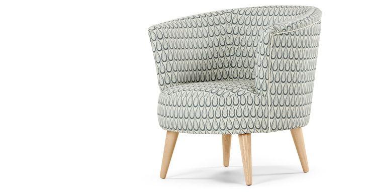 Lulu ronde stoel, geweven druppelpatroon   made.com
