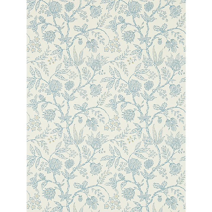 Buy Sanderson Solaine Wallpaper, Calico/Wedgwood, DFAB214087 Online at johnlewis.com
