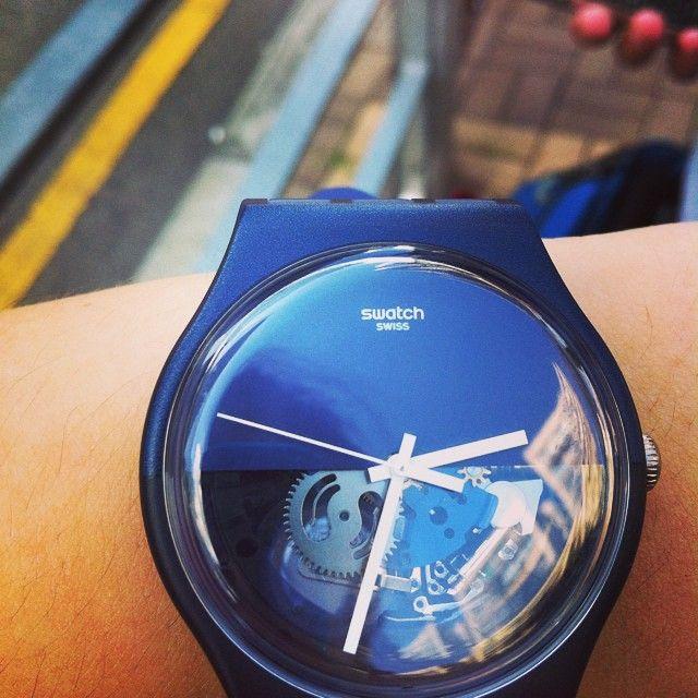 #Swatch BLUE DEPTH: Tiempo Reloj, Swatch Blue, Blue Depth, Fffreya Freyadevil, Hist Tiempo, Life Mi Style, Instagram Photo