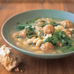 White Bean and Escarole Soup with Turkey Meatballs: White Beans,  Hotpot, Turkey Meatballs, Meatballs Recipe, Escarol Soups, Meatballs Soups, Meatball Recipes, Ground Turkey, Hot Pots