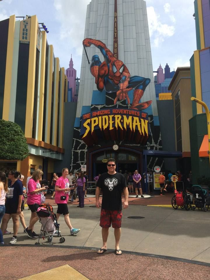 Proud WCU parent rocking his #rampride at Universal! #summerpride
