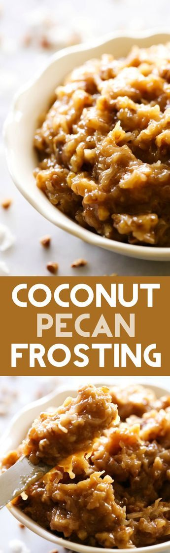 This Coconut Pecan Frosting is such a delicious and flavorful frosting. It has a nutty taste paired with shredded coconut that is perfect for German Chocolate Cakes. It is one of my FAVORITE frosting recipes of all time!