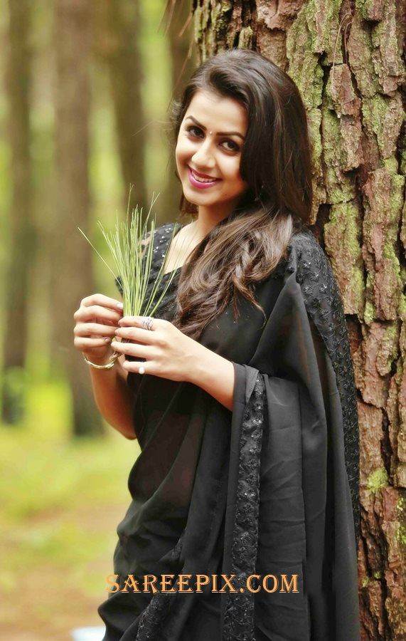 nikki galrani in black saree from team 5 movie
