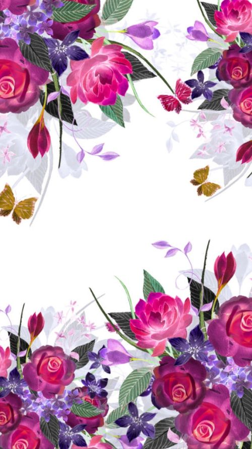 flowers, wallpaper and background image on We Heart It