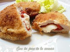:O Libritos de lomo rellenos de piquillos y queso :) Pinterest ^^ | https://pinterest.com/cookinglovers4ever/