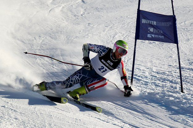Colby Granstrom of the United States of America competes in the Men's Giant Slalom run one on day 10 of the Winter Games NZ at Coronet Peak on August 22, 2011 in Queenstown, New Zealand. Photo: Camilla Stoddart/Getty Images