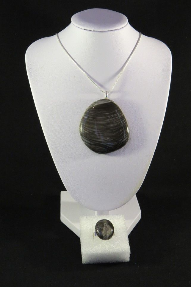 """Planets"" Necklace and Ring Set £22.00"