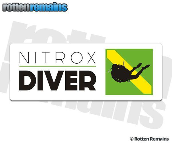Nitrox scuba diver enriched air flag sticker decal