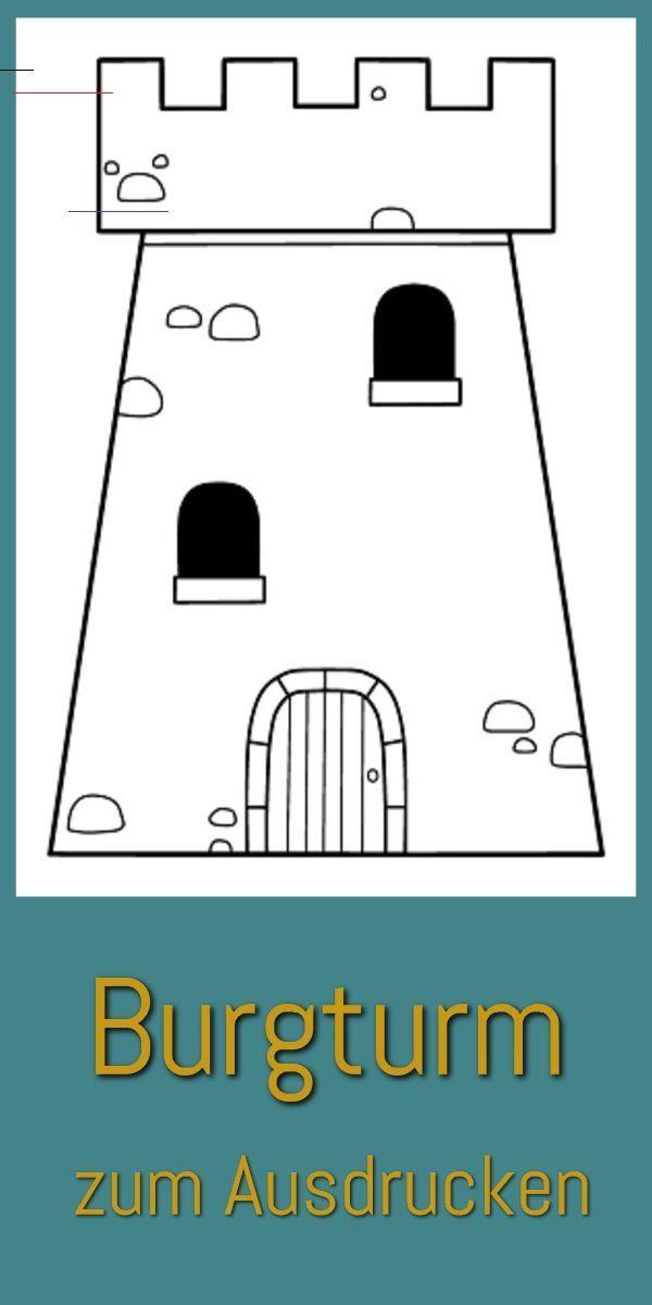 Grannypods Hier Kannst Du Unser Burgturm Ausmalbild Ausdrucken Vorlage Zum Malen Und Basteln Zur Kostenlosen Malvorlage Als Pdf Rutas Costura