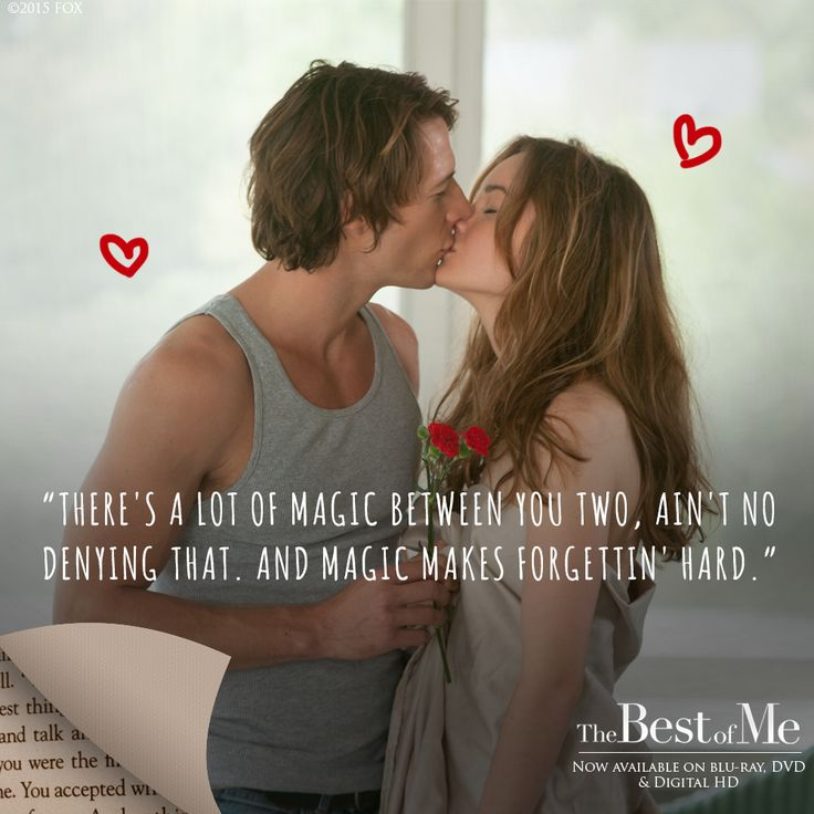 The words of Nicholas Sparks show the magical nature of Amanda and Dawson's relationship.