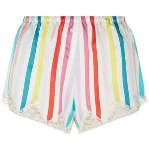 Morgan Lane Silk Striped Pyjama Shorts
