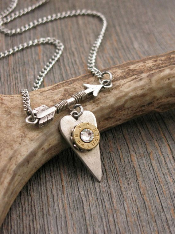 Follow Your Arrow Bullet Design Bullet Jewelry by thekeyofa
