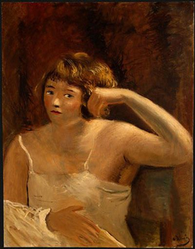 'frau in a hemd', öl von André Derain (1880-1954, France)