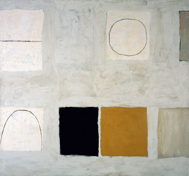 William Scott, Morning in Mykonos, 1960–61, Oil on canvas, 160.4 × 173 cm / 63 × 68 in, British Council, London
