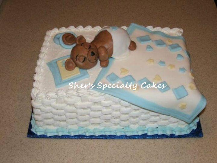 Baby Bear Shower Cake
