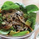 Lentil Quinoa over spinach or arugula.