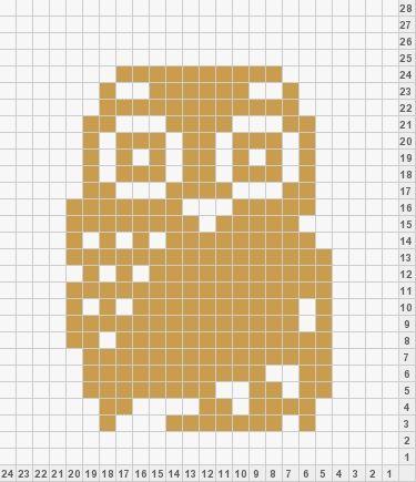 Duplicate Stitch Owl