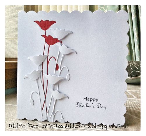 A Life of Continuous Small Treats: Memory Box Prim Poppy Mother's day card