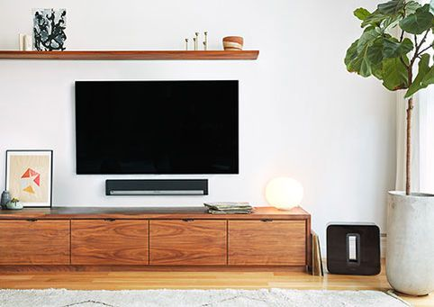 Catch every whisper of dialogue with the peerless PLAYBAR in the center. Feel every rumble of bass with a connected SUB. Pick up aural scenery with PLAY:1s in the rear for full surround. With a Sonos wireless home theater system, the soundscape is yours to enjoy in cinema quality.