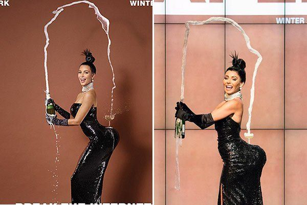 Kelly Ripa dressed up as Kim Kardashian's 'Paper' magazine pic for…