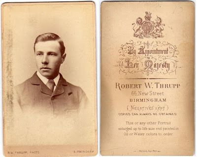 Young man, photographed by Robert Thrupp, 66 New Street, Birmingham