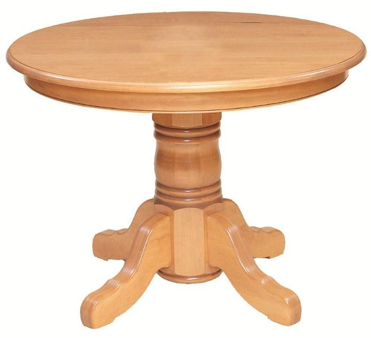 Amish Yorktown Single Pedestal Dining Room Table with Solid Top
