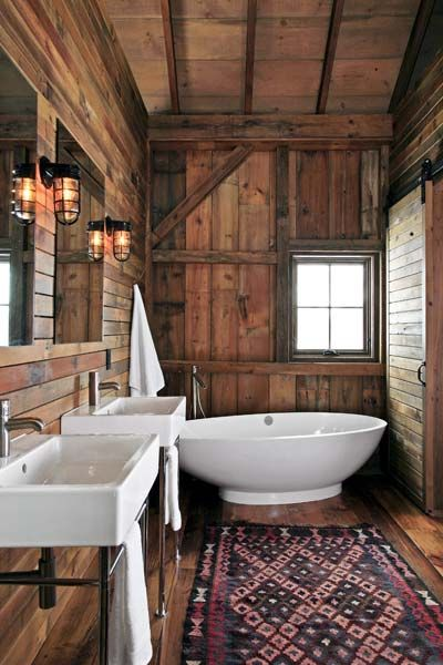Earthbound Artwork: Master Bath for barn remodel into comfy house