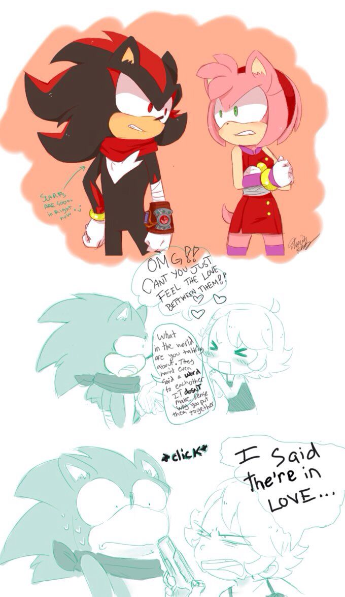 shadow and amy in sonic boom what do u guys think mostly sonamy or