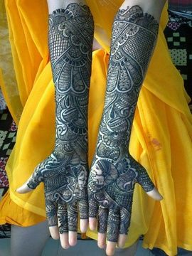 Mehendi Designs - Bridal Mehendi Designs | WedMeGood King and Queen motif Designs #wedmegood #mehendi #bridal