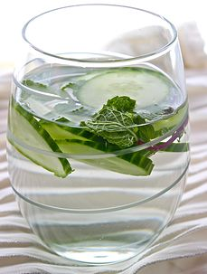 Cucumber and mint infused water recipe
