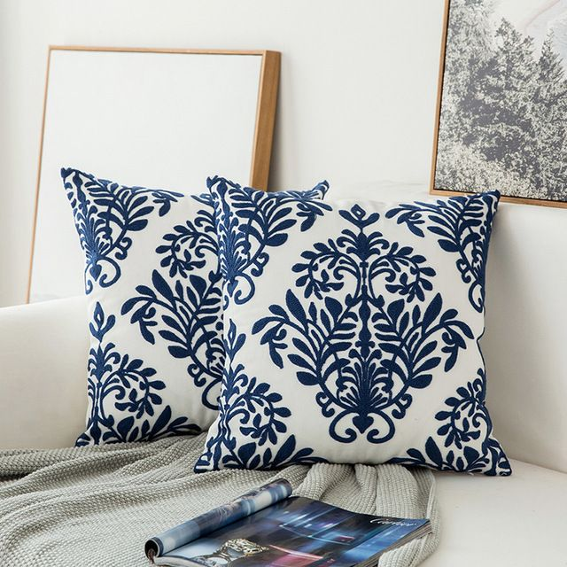Throw Pillow & Cover Navy Blue