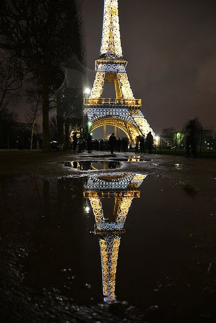 Reflection of the Eiffel Tower