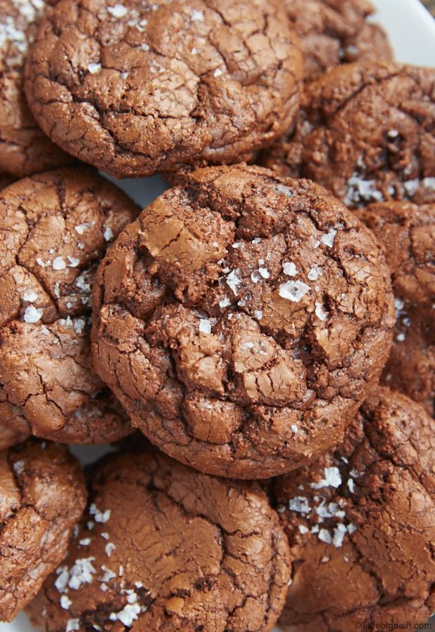 These salted chocolate rye cookies are decadent. Soft and chewy, with the texture of chocolate ganache. The best chocolate cookie recipe I've ever tried.