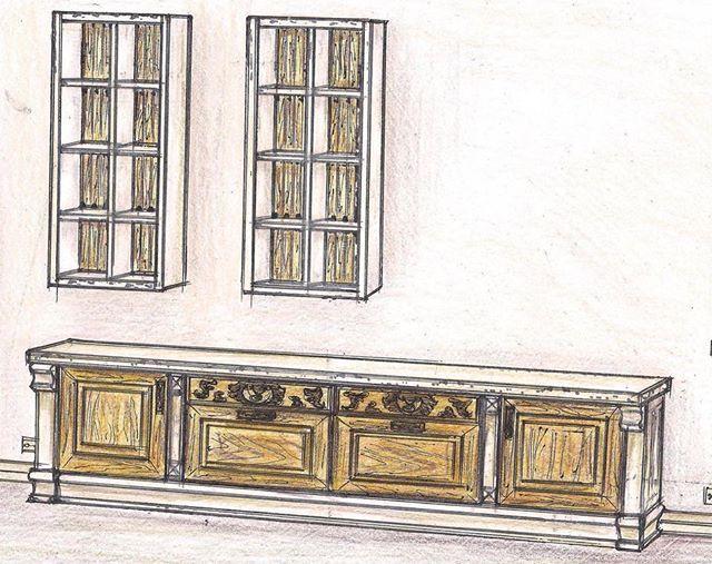 Витрина в гостиную. Верхние секции из дерева, двухцветная покраска. Нижние фасады дерево с гравировкой и вставкой шпона. Двухцветная покраска. Корпус дерево. Конфигурацию можно придумать под ваши размеры! По вопросам изготовления или сотрудничества 066-363-29-29, 067-958-98-79 #дизайнмебели. #дизайнмебелизапорожье. #проектированиемебели. #мебельзапорожье #мебелькиев. #кухниукраина. #кухнизапорожье #дизайнкухни. #мебельназаказ