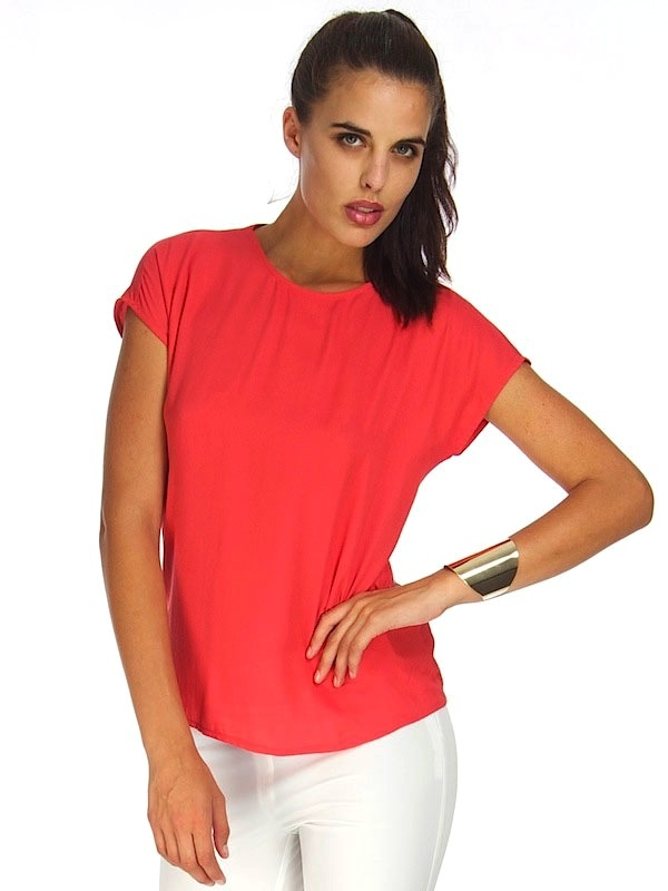 CALLIE CORAL TOP
